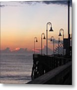 Pre-sunrise On Daytona Beach Pier   Metal Print