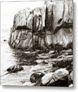 Precarious At Pebble Beach Metal Print