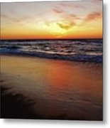Predawn Glowing Reflection 4 412 Metal Print