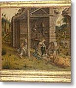 Predella Of La Madonna Della Rondine Metal Print