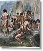 Prehistoric Man: Tools Metal Print