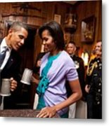 President And Michelle Obama Attend Metal Print