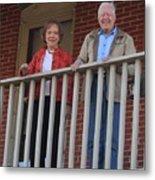 President And Mrs Carter On Plains Inn Balcony Metal Print