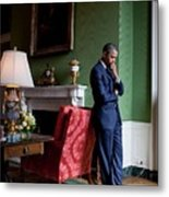President Barack Obama Waits Metal Print by Everett