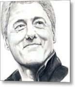 President Bill Clinton Metal Print