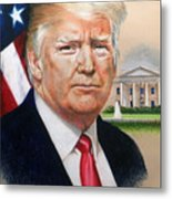 President Donald Trump Art Metal Print