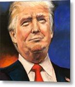 President Donald Trump Portrait Metal Print