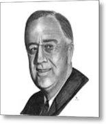 President Franklin Roosevelt Metal Print