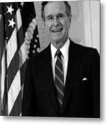President George Bush Sr Metal Print