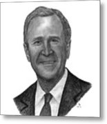President George W Bush Metal Print