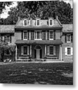 President James Buchanan's Wheatland In Black And White Metal Print