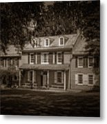 President James Buchanan's Wheatland In Sepia Metal Print