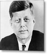 President John F. Kennedy Metal Print by War Is Hell Store