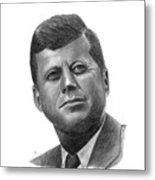 President John Kennedy Metal Print