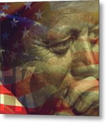 President Kennedy - Digital Art Metal Print