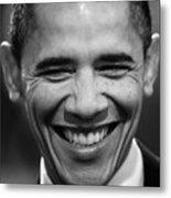 President Obama V Metal Print