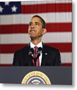 President Obama Metal Print by War Is Hell Store