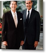 President Reagan And George H.w. Bush - Official Portrait  Metal Print