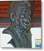 President Reagan Bust Metal Print