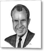 President Richard Nixon Metal Print
