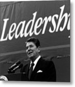 President Ronald Reagan Leadership Photo Metal Print