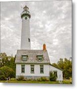 Presque Isle Lighthouse  - Lake Huron, Lower Peninsula, Mi Metal Print