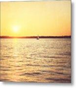 Presque Isle Sunset Metal Print