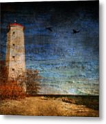 Presquile Lighthouse Metal Print