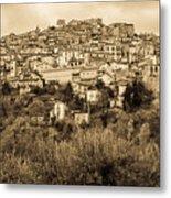 Pretoro - Landscape In Sepia Tones  Metal Print