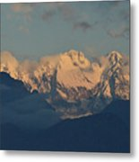 Pretty Countyside In Italy With Huge Mountains  Metal Print