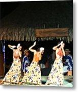 Pretty Dancers In Tahiti Metal Print