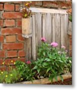 Pretty Garden Wall Metal Print