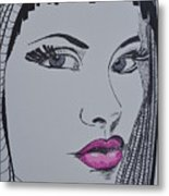 Pretty In Pink Lips Metal Print