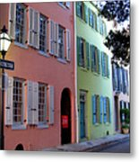 Pretty Lane In Charleston Metal Print