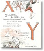Pretty Name Abc X And Y Metal Print