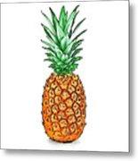 Pretty Pineapple II Metal Print