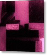Pretty Pink Abstract Metal Print