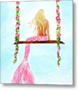 Pretty Pink Swing Metal Print