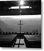 Pretty Place Aka Fred W. Symmes Chapel Black And White Metal Print