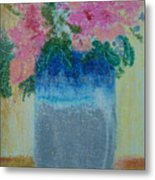 Pretty Pottery Metal Print