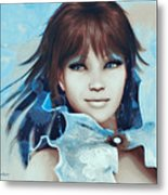 Pretty Smile Metal Print