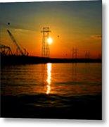 Price Legg Bridge Sunset Metal Print