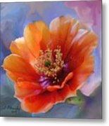 Prickly Pear Bloom Metal Print