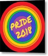 Pride Circles Metal Print