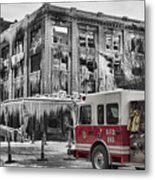 Pride, Commitment, And Service -after The Fire Metal Print by Jeff Swanson