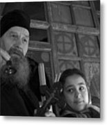 Priest And A Young Girl  Metal Print