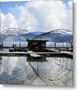 Priest Lake Boat Dock Reflection Metal Print