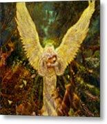 Priestess Of The Woods-angel Tarot Card Metal Print
