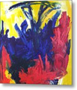 Primary Color Abstract Metal Print