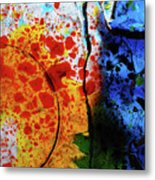 Primary Crystal Abstract Metal Print